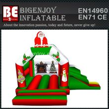 Christmas Infatable Santa Grotto Bounce House&Slide For Sale