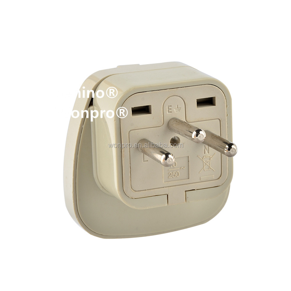 Classical Wonpro Grounded European Safety Style Travel Adapter Type J for Switzerland and more