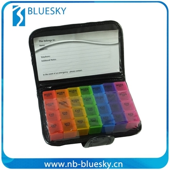 2015 PU note book fancy plastic pill box