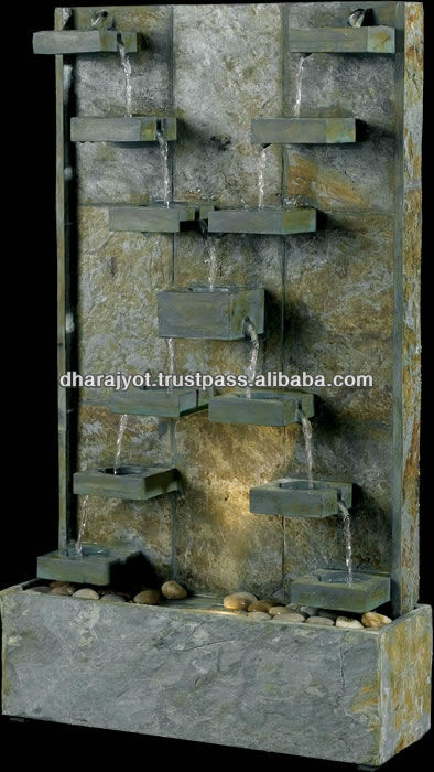 Natural Stone Carved Outdoor Wall Antique Water Fountains Decorative Patio Fountain