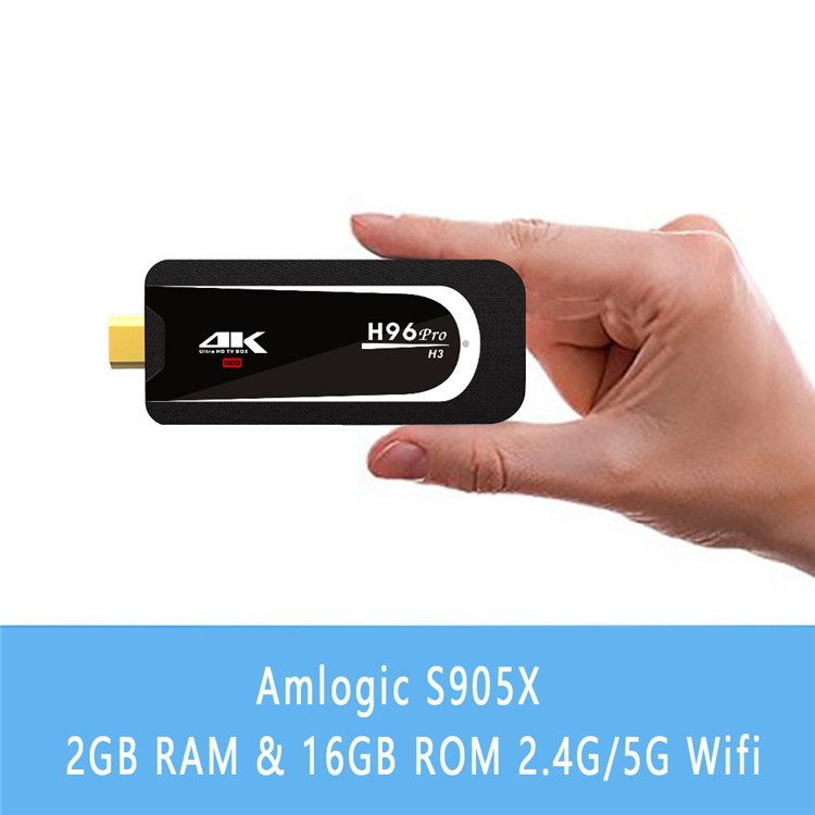 best android smart tv box H96 PRO-H3 amogic S905X wireless mouse and keyboard 2G 16G set top box TV STICK