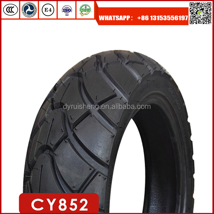 Dongying Ruisheng Factory High quality motorcycle tyre 120/70-12 with high natural rubber rate