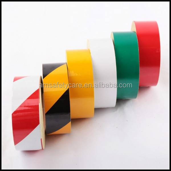 Hazard Warning Retro Reflective Marking Tape for Road Safety