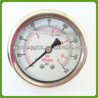 Anti-vibration Liquid Filled Pressure Gauge with Flange