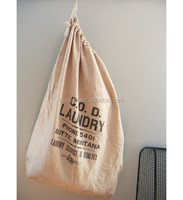 Hanging hamper drawstring laundry bags