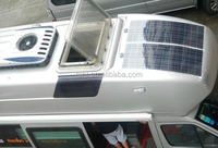 Semi flexible 210W solar cell panel with Sun power cells