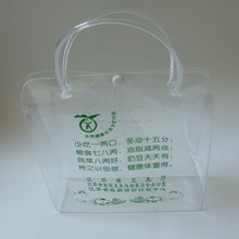 custom small clear pvc plastic shopping bag with snap button
