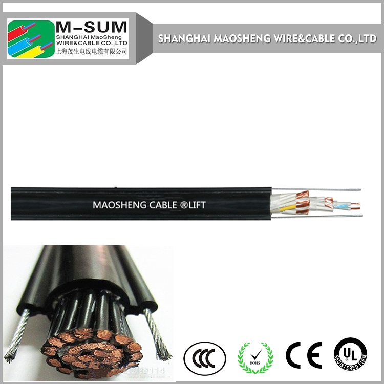 Round cable with supporting steel wires SUM490/49100 cranes control cable with PVC