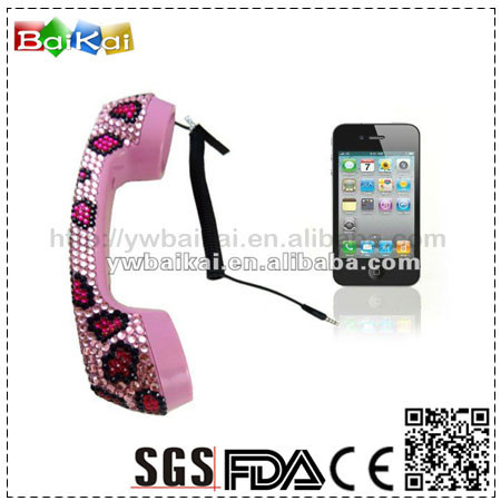 new design crystal mobile phone handset