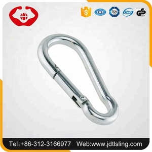 Hebei Rigging Climbing Mountain Hiking Galvanized Carabiner Hook with eyelet