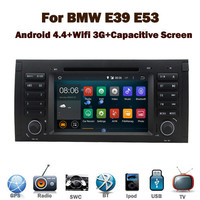 "7""HD Capacitive Touch Screen android 4.4.2 car dvd for BMW E39 E53 E38 GPS Wifi 3G Bluetooth Radio RDS USB IPOD Steering wheel"
