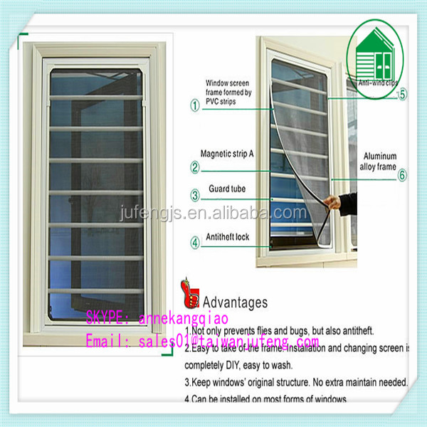 OEM supply magnetic window screen - Anti mosquito protection