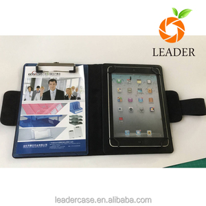 Best sell factory wholesale price belt clip kneeboard leather case for Ipad mini