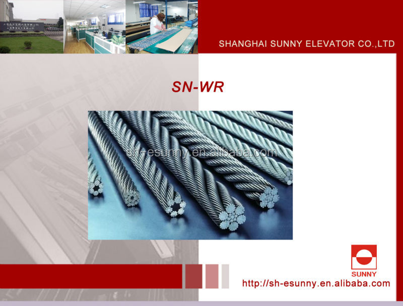 Elevator steel wire rope, wire rope, elevator parts, elevator wire rope,SN-WR