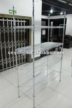 Supermarket Electroplating Wire Mesh Display Rack And Free Stand