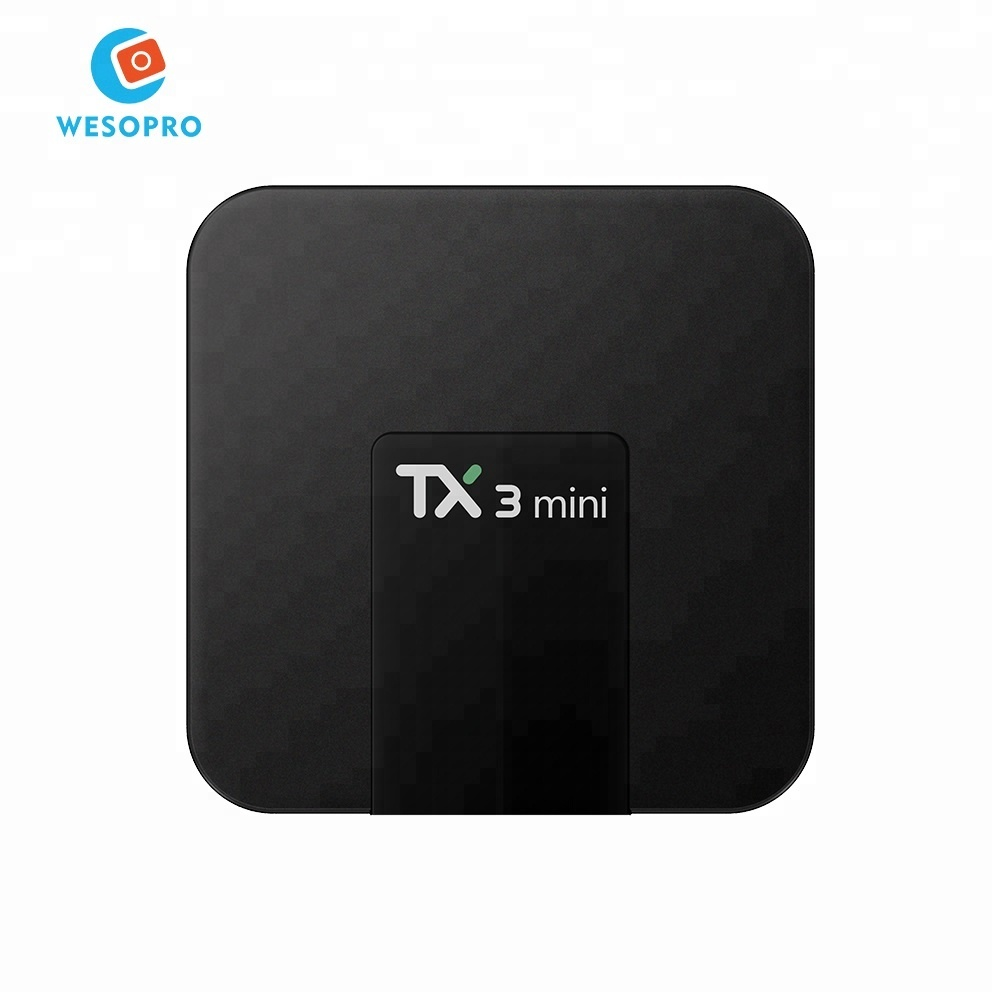 TX3 MINI TV Box Android 7.1 1GB DDR3 8GB EMMC Amlogic S905W <strong>Quad</strong> Core Smart IPTV TV Box with LED Display 4K <strong>HD</strong> Set Top Box