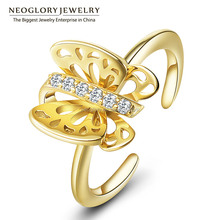 Neoglory Zircon Gold Plated Rings For Women Engagement Finger Jewelry Christmas Gifts Fashion Made With Swarovski Elements