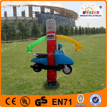 WINSUN PVC EN14960 3 meters high wind resistance Moto inflatable advertising air dancer