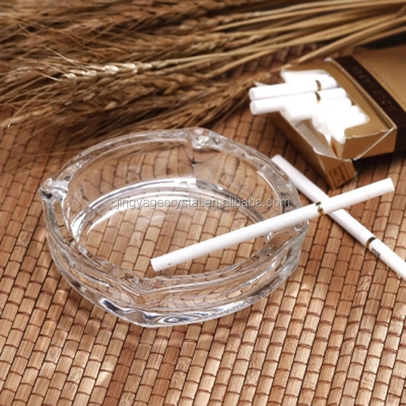 Promotional Clear Round Crystal Ashtray for Decoration Gifts