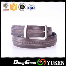 New fashion personality unisex mens vintage embossed leather belt with pin buckle
