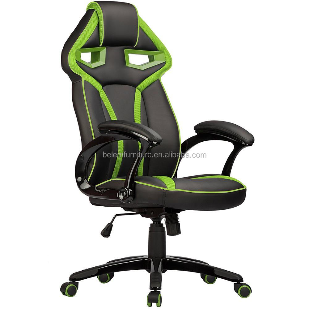 Popular Sport gaming office chair/racing style office chair swivel computer style game chair with neckrest-Praha= BL3418