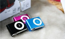 Cheap 100PC mini Clip mp3 player support sd card with Gift box+earphone+usb Free shipping