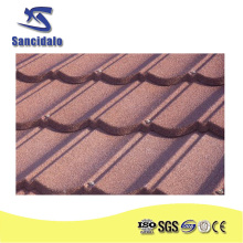 sancidalo roof sheet metal/sand coated corrugated steel roof tiles/Roman types zinc aluminum roofs with stone coated