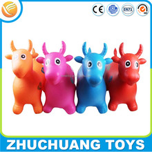 non-toxic eco friendly plastic inflatable cow jumping horse toy