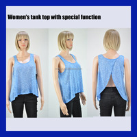 Woman's new design special function tank top