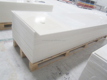 Glossy white acrylic solid surface with acrylic solid surface adhesive