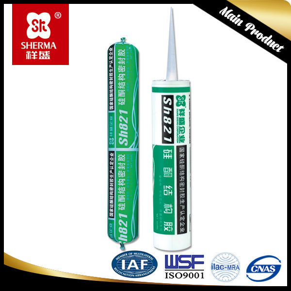 Structural adhesive sealing hollow glass small silicone sealant