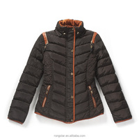 Fashion Ladies Short Padded Stand Collar Down Jacket for the Winter 2017 young lady
