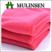 100% polyester solid dyed welf knitting red velvet fabric