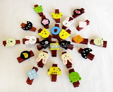 new design custom animal decoration wood clips for craft