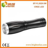 Factory Supply Mini high power Portable Aluminum Zooming Pocket Led Cree 14500 Torch Flashlight With 1*AA or 14500 Battery