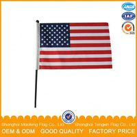 Kinds of National Handheld Flag Hand Flags Hand Held Stick Flag
