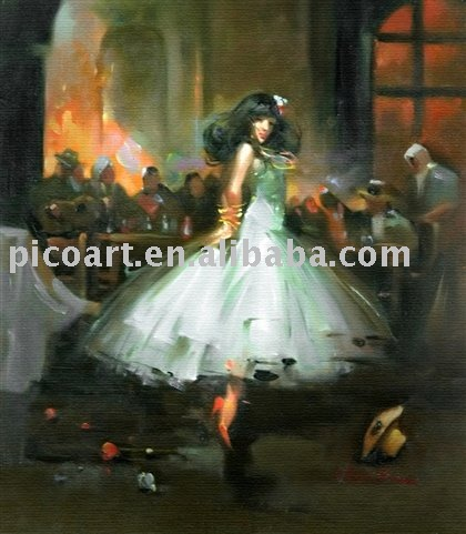 dance contemporary oil painting