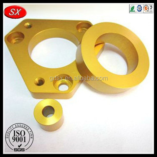 Yellow Aluminum Anodized CNC Custom Precision Machining Parts, Skate Scooter Parts