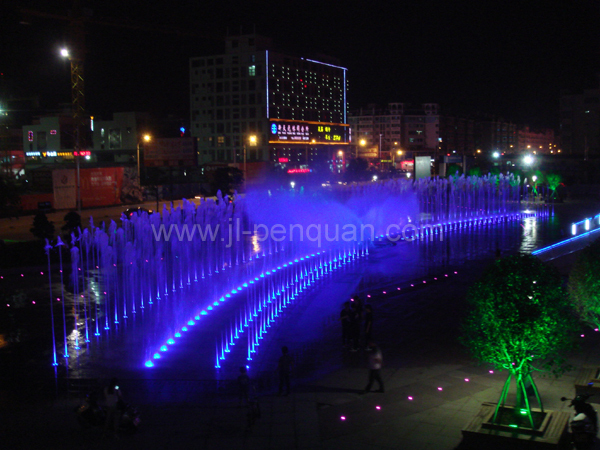 Hidden Pool Dry Fountain with Colorful LED Lighting and Music for Cultural Square