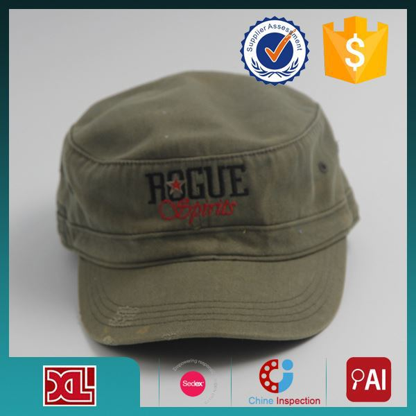 Professional Factory Cheap Wholesale Custom Design leather military style hats with good prices