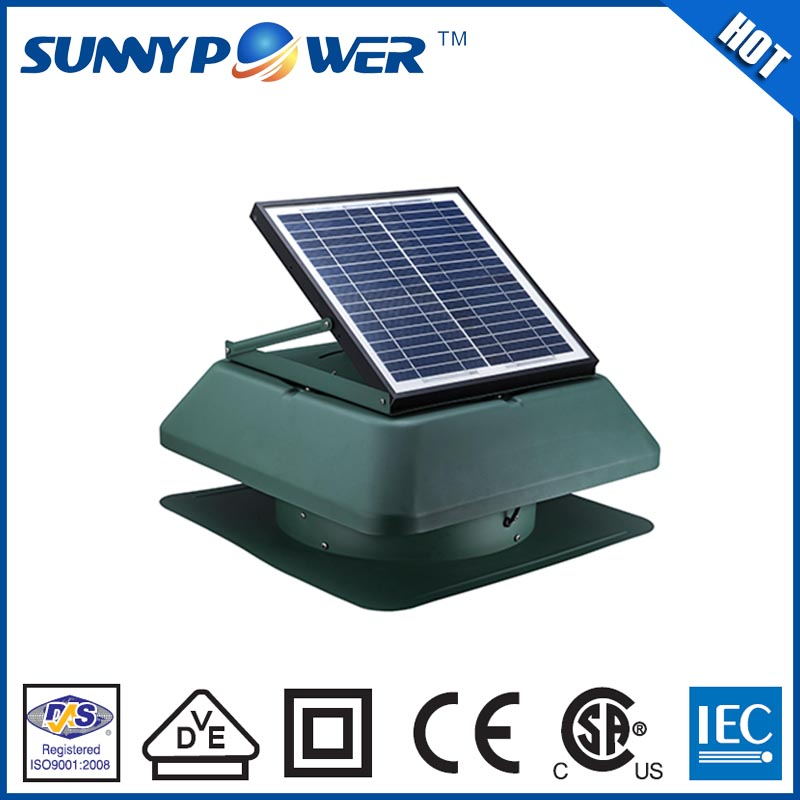 12 watt Square With battery fan with solar energy