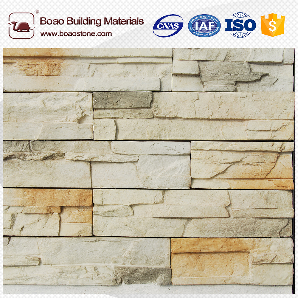 Outdoor decorative paving stone wall made by silicone mold