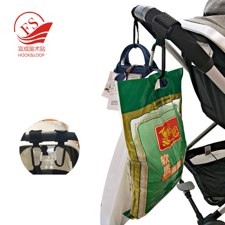 Multi Purpose Baby stroller hooks Pushchair Buggy Stroller Clips with non slip strap