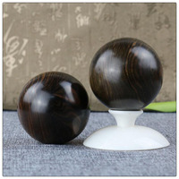 Ebony wood carving ornament Health care Ball hot sales