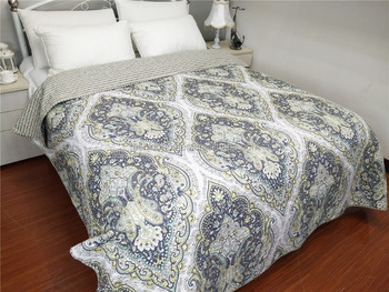 Wholesale Quilted bedspreads, polyester quilt set, bedspread quilt