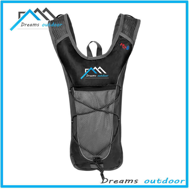 Lightweight Hydration Pack - BPA Free 2 Liter (70 ounce) Hydration Bladder - Cycling Running Walking Hiking - Fits Men Women Kid