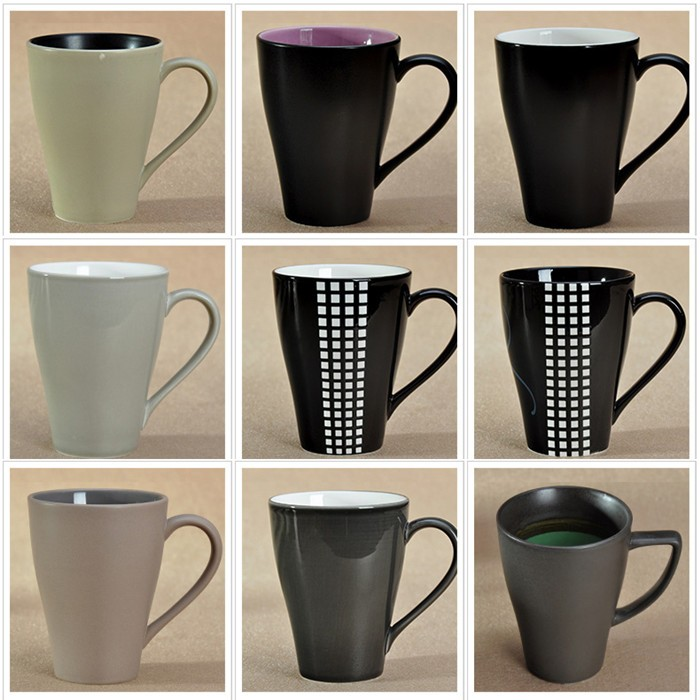 Custom Color Glazed Logo Decal Artwork Design Printable Ceramic Stoneware Coffee Tea Cups and Mugs