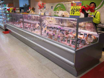 commercial service counter with glass cover