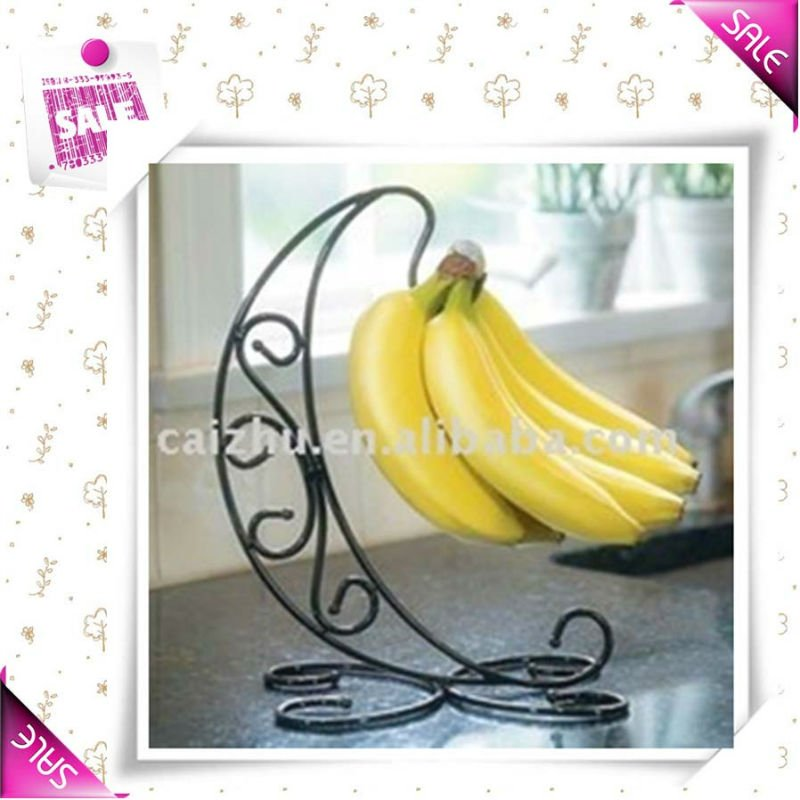 Metal wire banana holder