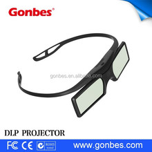 2015 hot sale OEM printing active 3d 1080p video projector glasses